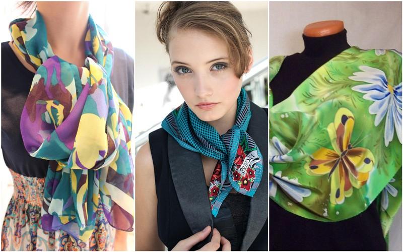 летние шарфы с принтом