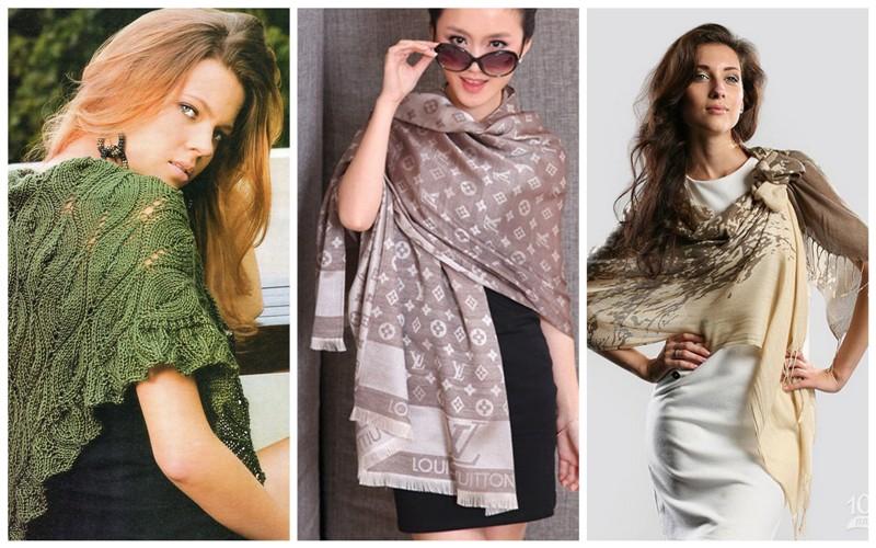 Модные зимние шарфы фото