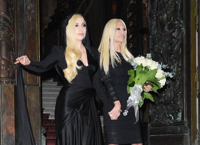 Леди Гага Неделя высокой моды Versace