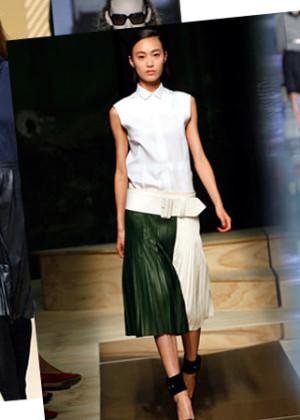 Кожаная юбка - 2019-2020, фото. С чем носить кожаную юбку?