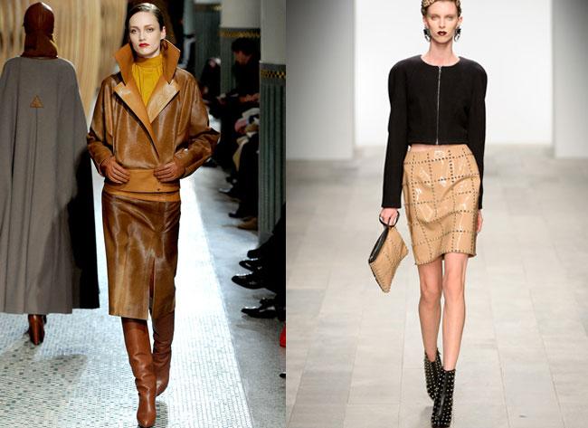 Кожаная юбка – 2017-2018, фото. С чем правильно носить кожаную юбку.