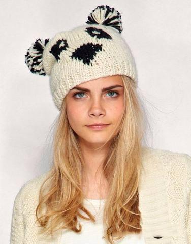 женские вязаные шапки 2014 2015