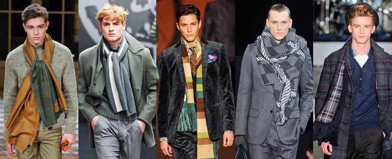 модные мужские шарфы зима 2017