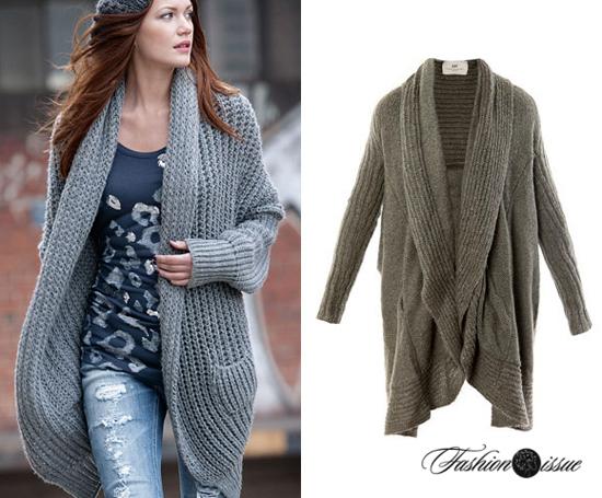 вязаное пальто фото и обзор модных женских тенденций