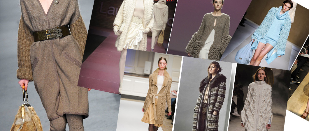 Женское вязаное пальто: фото и модные коллекци 2017