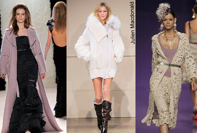 вязанное пальто от дизайнеров