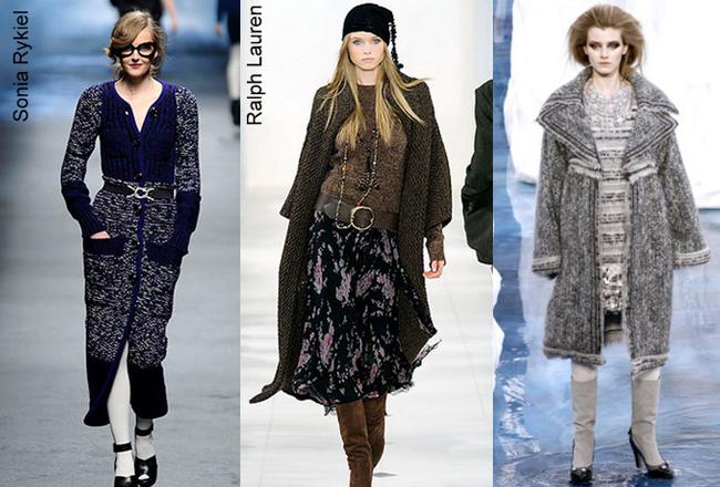 Пальто вязанное тренды