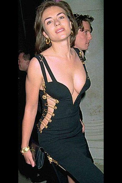 черное платье Элизабет Хёрли