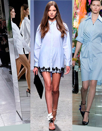 Как носить платье-рубашку: тренды с парижских подиумов