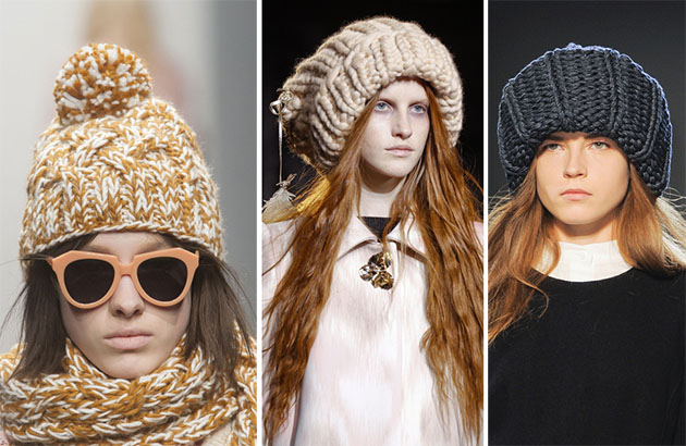 зимние вязаные шапки 2016-2017