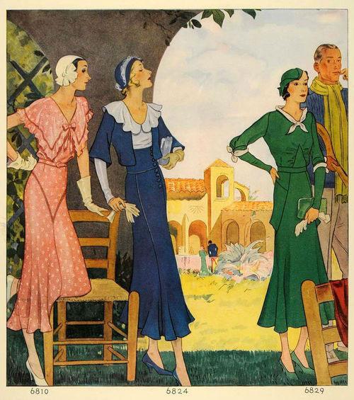 модные иллюстрции старый журнал мод «McCall's» фото 7