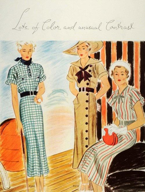 модные иллюстрации старый журнал мод «McCall's» фото 8