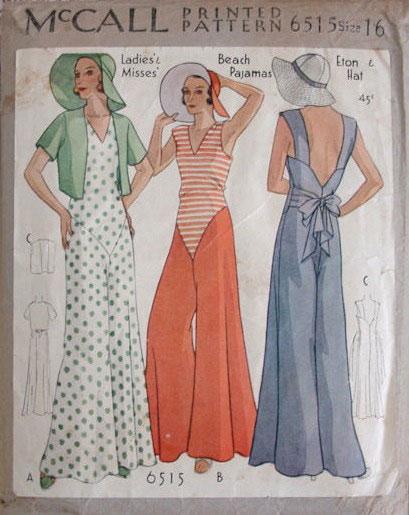 модные иллюстрации старый журнал мод «McCall's» фото 9