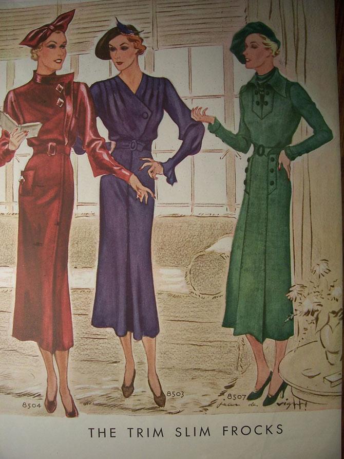 модные иллюстрации старый журнал мод «McCall's» фото 10