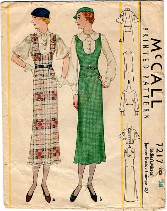модные иллюстрации старый журнал мод «McCall's» фото 11