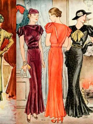 Модные иллюстрации из старого журнала мод «McCall's»