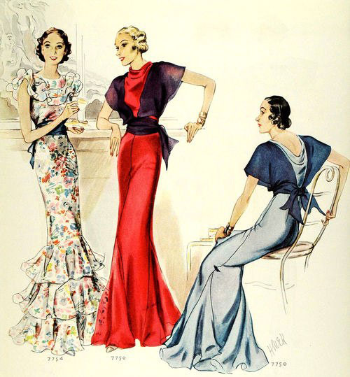 модные иллюстрации старый журнал мод «McCall's» фото 1