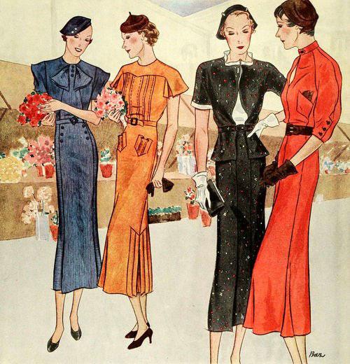 модные иллюстрации старый журнал мод «McCall's» фото 2