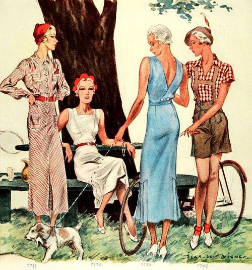 модные иллюстрации старый журнал мод «McCall's» фото 3
