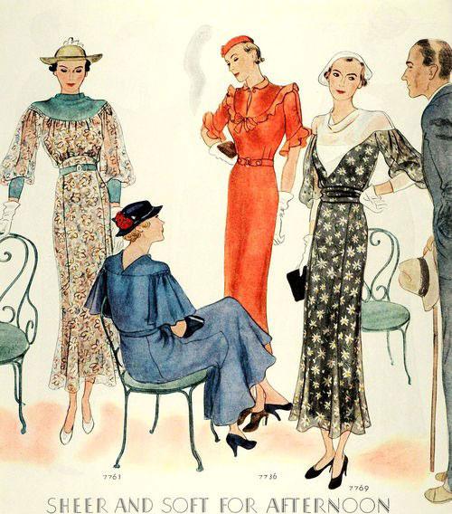 модные иллюстрации старый журнал мод «McCall's» фото 4