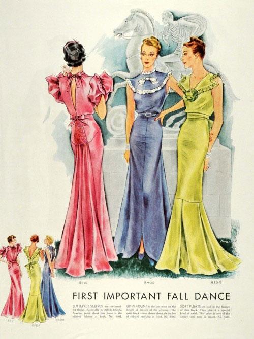 модные иллюстрации старый журнал мод «McCall's» фото 6