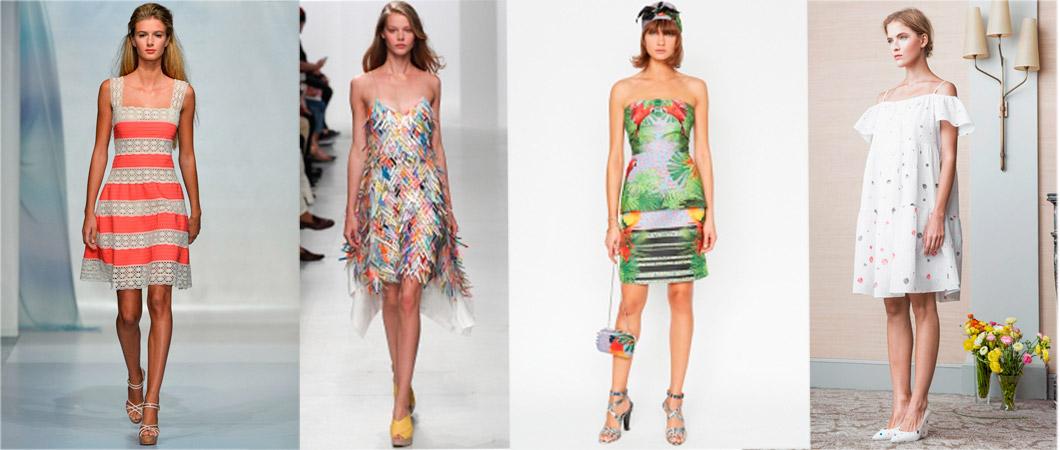 платья летние с декольте
