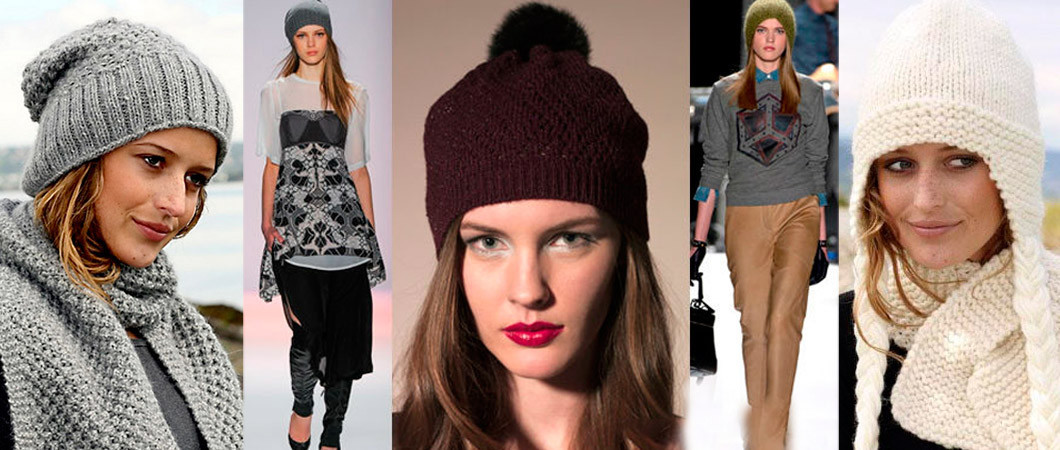 зимние шапки женские фото вязаные