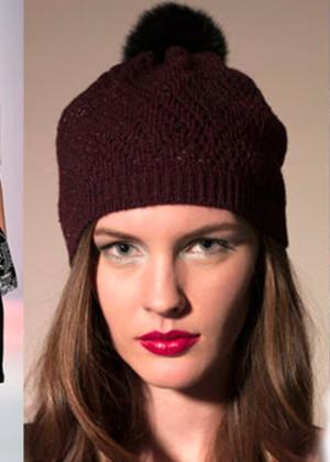 Модные женские вязаные шапки 2016-2017