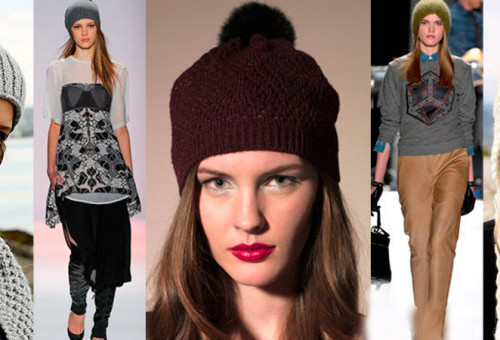 модные вязаные шапки 2019