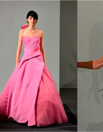 Розовые свадебные платья: коллекция Веры Вонг