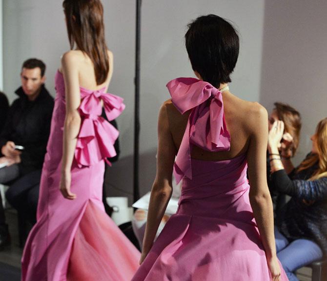 розовое свадебное платье фото 2