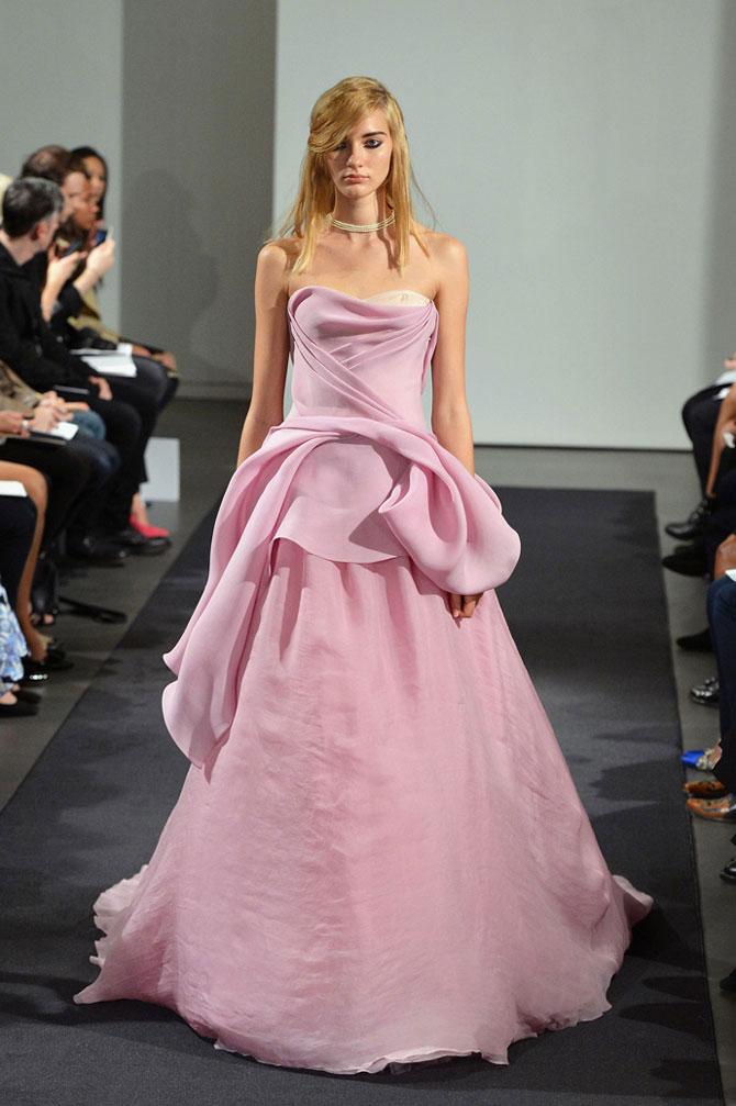 розовое свадебное платье фото 7