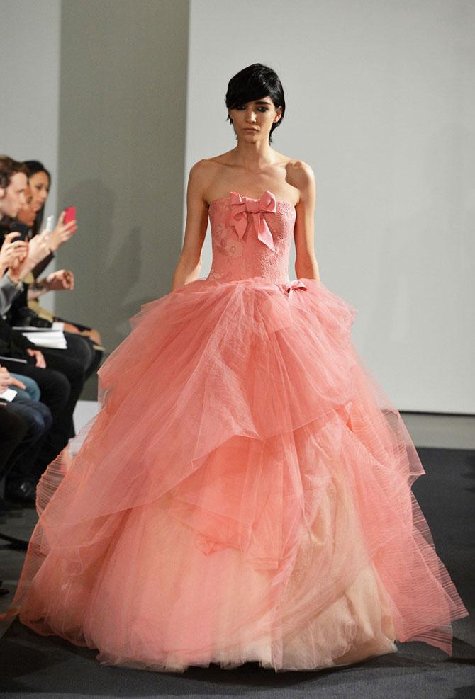 розовое свадебное платье фото 6