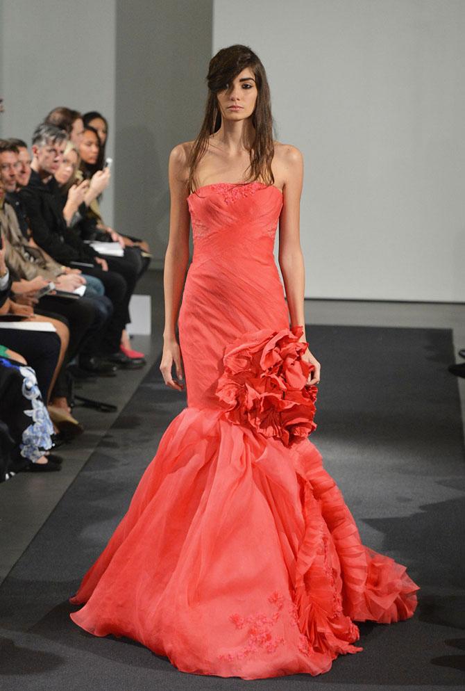 розовое свадебное платье фото 4