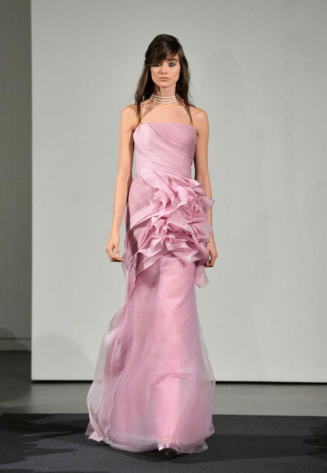 розовое свадебное платье фото 5
