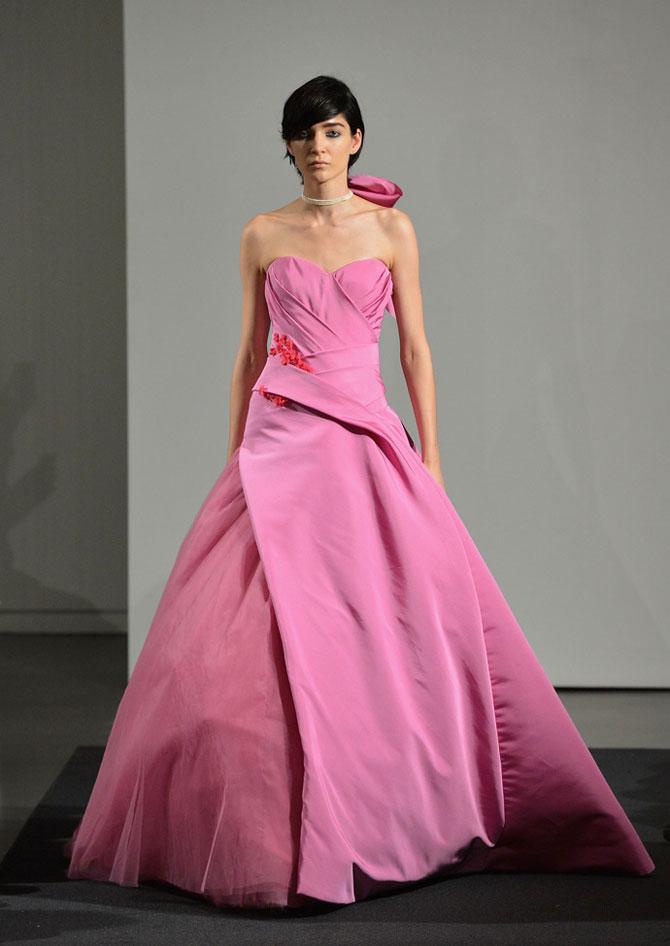 розовое свадебное платье фото 3
