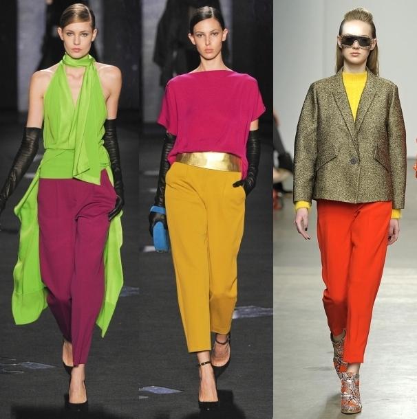 цветные брюки бананы