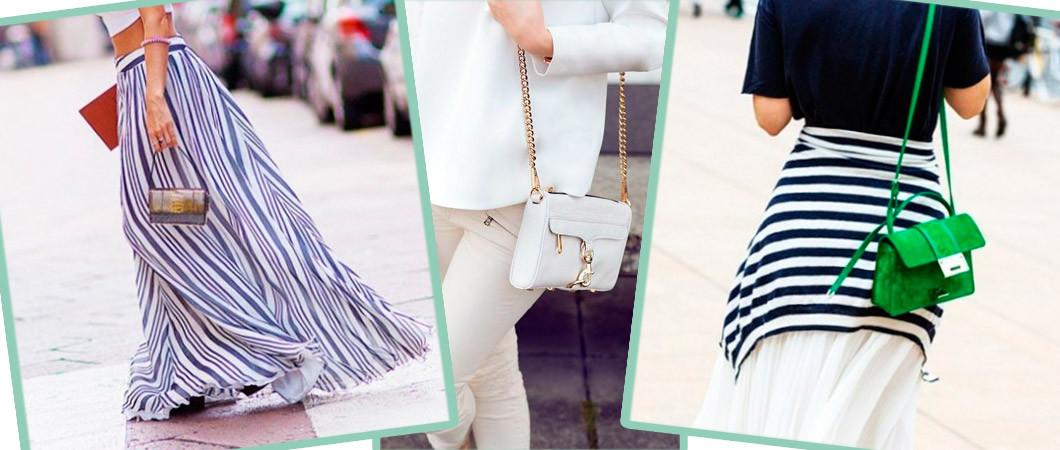 Маленькие сумочки через плечо: с чем носить в 2018