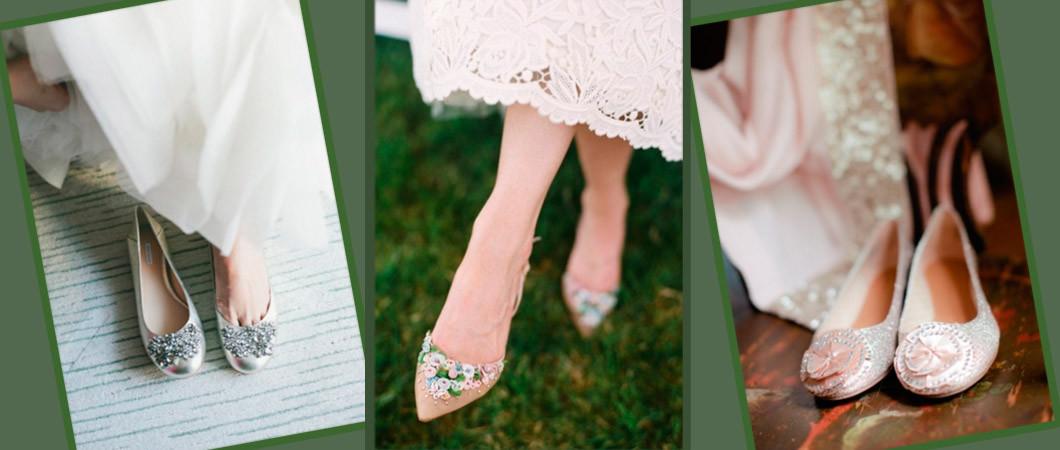 Свадебные балетки: фото идеи