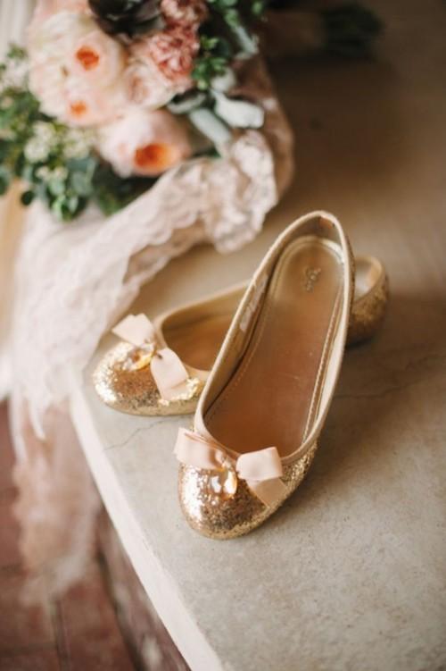 свадебные балетки с бантиком из страз