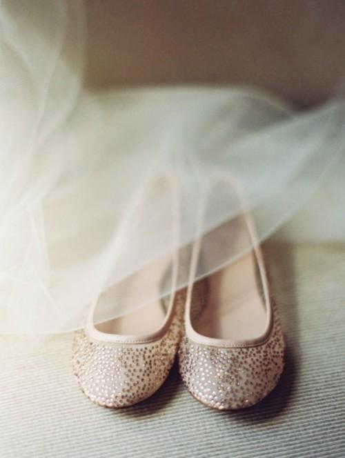 свадебные балетки со стразами