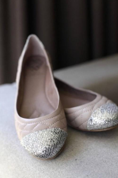 белые свадебные балетки
