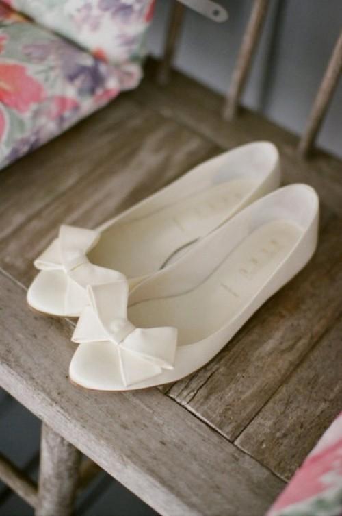 свадебные балетки с бантиком