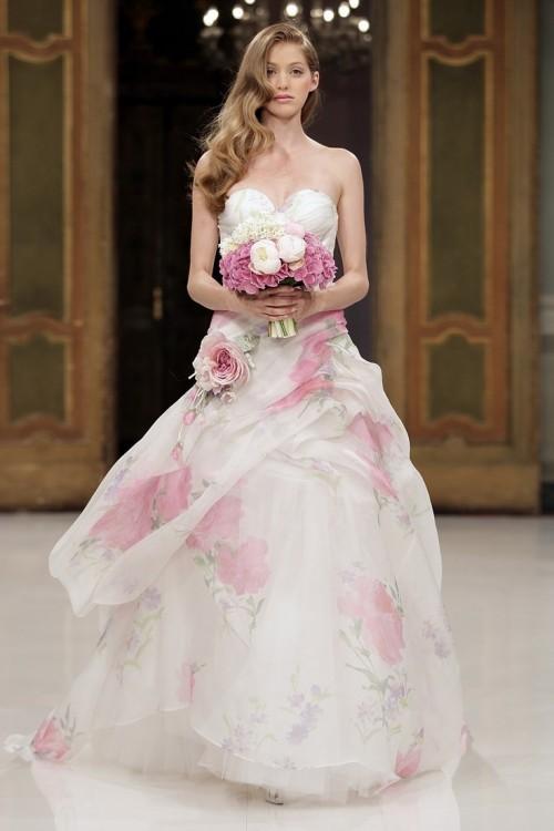бледно розовое свадебное платье