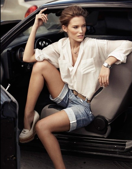 классические джинсовые бриджи