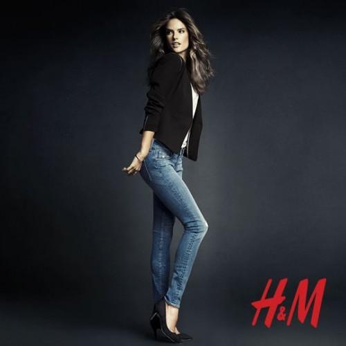 Алессандра Амбросио реклама H&M фото 10