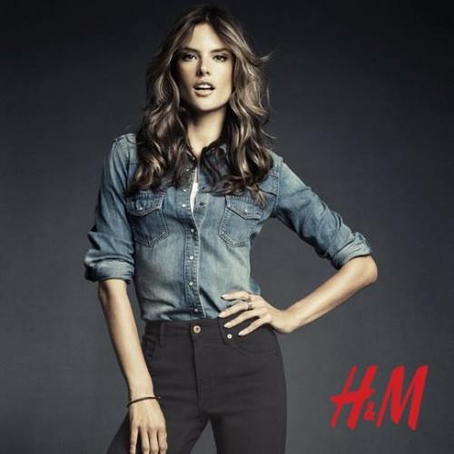 Алессандра Амбросио реклама H&M фото 9