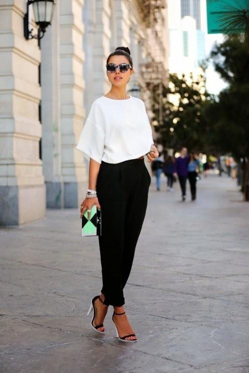 черный брюки с завышенной талией