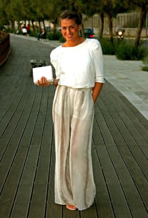 летние брюки с завышенной талией