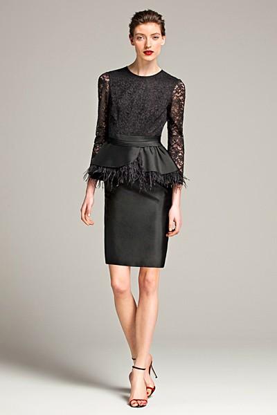 черный цвет в одежде: коллекция Carolina Herrera фото 5